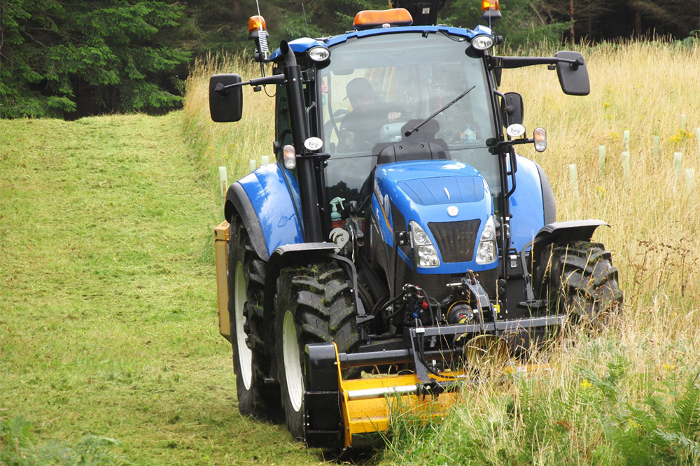 Grass-cutting starts in wild flower meadow